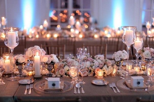 Четыре идеи как украсить свадебный стол
