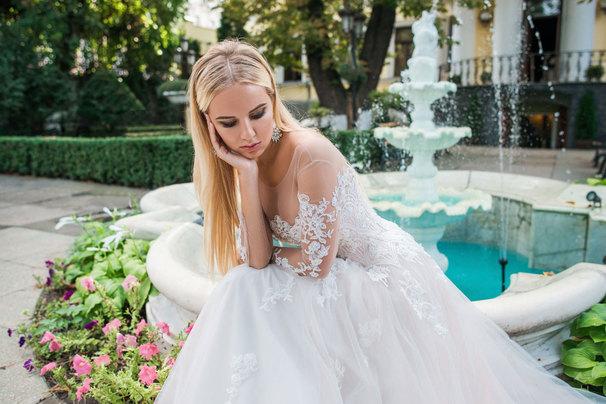 Воздушный образ невесты: роскошный фатин