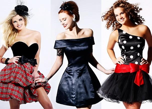 Коктейльные вечерние платья: черная классика