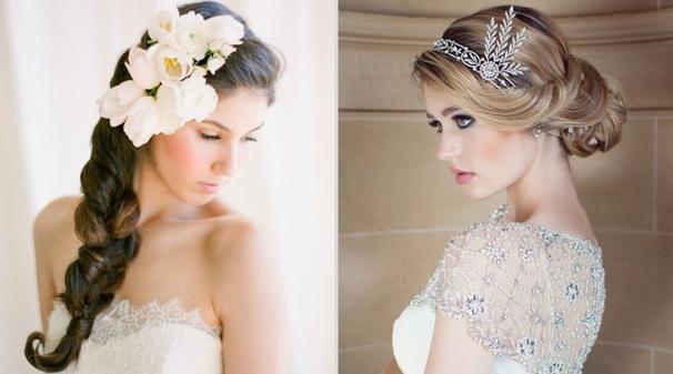 Дополнения к прическе невесты
